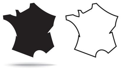 ICÔNE CARTE DE FRANCE