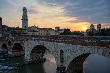 Castelvecchio at Adige River Verona - Italy.