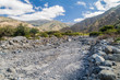 Dry creek near Quebrada del Colorado canyon near Cafayate, Argentina