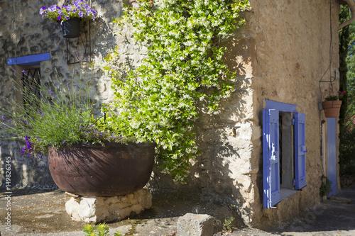 Spoed canvasdoek 2cm dik Lavendel Village de Dauphin Provence France