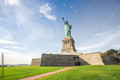 View of the Statue of Liberty in New York, USA. Poster