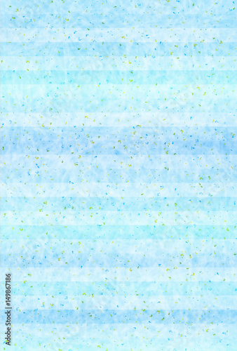 Poster Lichtblauw 海 夏 和紙 背景