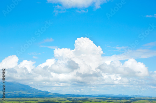 夏の阿蘇の風景