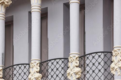 Póster Modernist style balcony. Torico plaza. Teruel, Spain