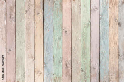 pastel colored wood planks texture or background Poster