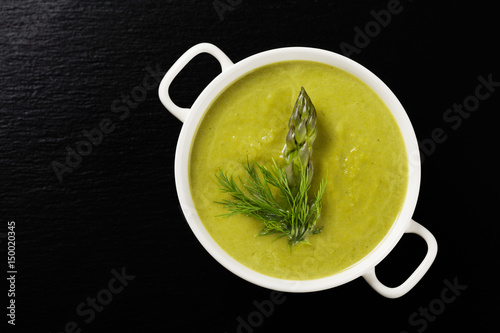 Delicious soup with asparagus.