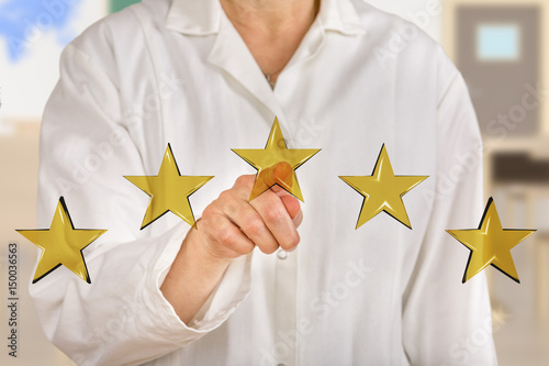 Person pointing with finger at stars Poster