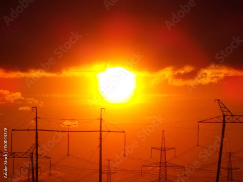 Papiers peints Orange eclat Beautiful sunset