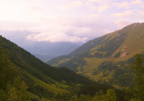 The beautiful landscape of the Caucasus mountains Arkhyz