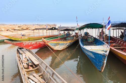 Foto op Plexiglas Indonesië Local Taxi boats in Thailand