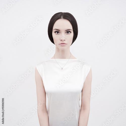 Fotobehang Women Art Beautiful brunette woman
