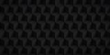 Volume realistic texture, back cubes, 3d geometric pattern, design vector dark background