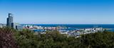 Panorama portu Gdynia widziana z Kamiennej Góry, Polska.