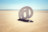 At the beach email concept