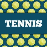 tennis balls icon over blue background. colorful design. vector illustration