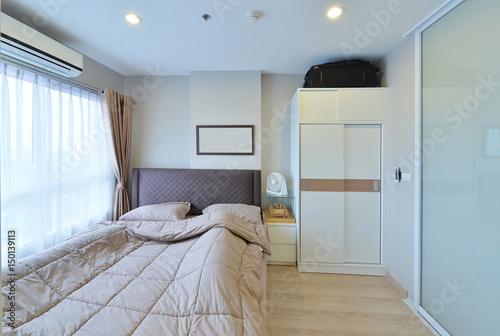 Plagát luxury modern bedroom interior and decoration, interior design