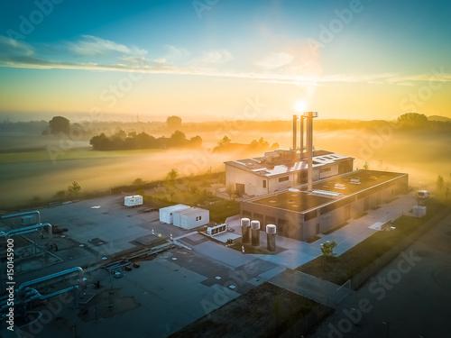In de dag Ochtendgloren München - Industrie im Morgenglühen