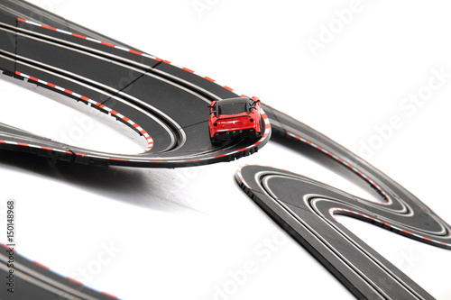 Fotobehang F1 racing track isolated