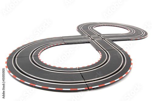 Fotobehang F1 racing track isolated