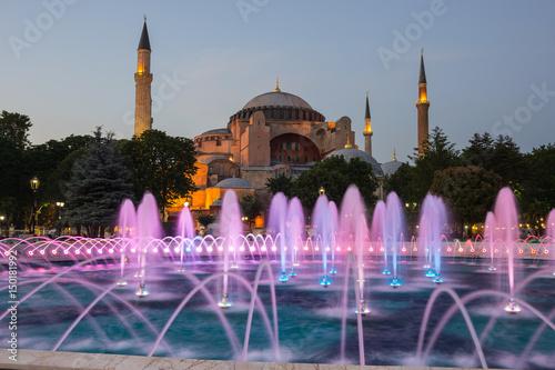 Poster Hagia Sophia on sunset, Istanbul
