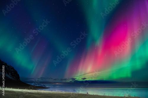 Fotobehang Noorderlicht Northern lights colors