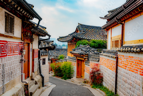 Fotobehang Seoel View of Seoul city in south korea