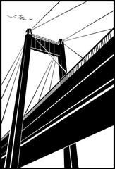 Stylized bridge