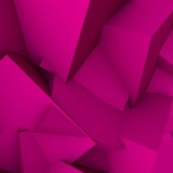 Abstract 3d background with neon pink polygonal triangles.