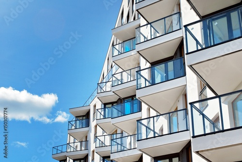 Plakat Modern, Luxury Apartment Building