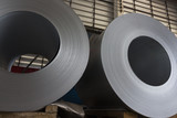 Steel Coils stock in warehouse for tile manufacturing - 150403957
