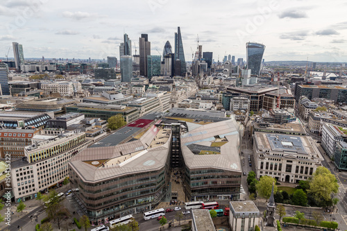 Staande foto London London Buildings seen from the top of the Sant paul Cathedral