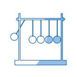 newtons cradle momentum pendulum metal shadow vector illustration