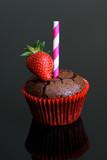 Gâteau chocolat fraise  - 150436187