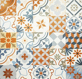 Background and texture with Ancient tile pattern - 150443113
