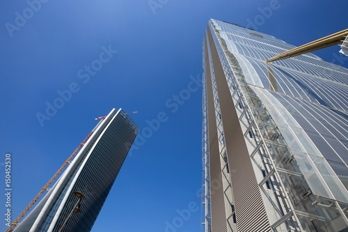 Aluminium Milan MILAN, ITALY, MARCH 28, 2017 - Isozaki Tower in
