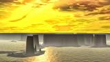 Fantasy alien planet. 3D rendering