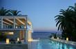 Villa am Meer Abends
