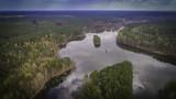 Fototapeta Nature - jeziora i lasy z lotu ptaka © konradkerker