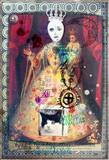 Esoteric and astrologic graffiti,scraps and collage