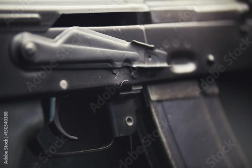 Poster Kalashnikov assault rifles - close up view