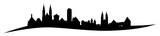 Skyline von Nürnberg mit seiner Burg, Handwerkerhof und Rathaus. - 150546974
