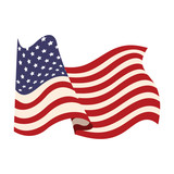 united states of america flag waving symbol national vector illustration - 150566180