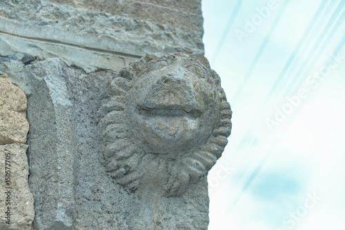 tarihi aslan heykeli taşı Poster