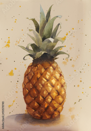 Hello Summer. Fresh pineapple. - 150578740
