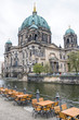 Berlin cathedral and river Spree, Germany