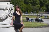 Elegant woman in Milan, Italy