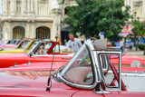 Old classic American car on streets on the city of Havana, Cuba.