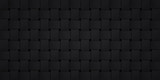 Volume realistic black texture, wicker background, 3d geometric pattern, design vector dark wallpaper