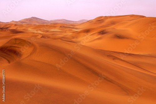 View over the beautiful Dunes of the Namib Desert near Swakopmund