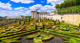 Villandry castle with outstanding gardens. Loire valley, France - 150661358